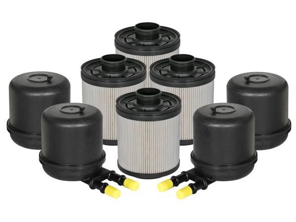 aFe Power - AFE Filters 44-FF014-MB PRO GUARD D2 Fuel Filter (4 Pack) Ford Diesel Trucks 11-17 V8-6.7L (td)