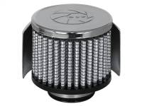 aFe Power - AFE Filters 18-01382 Magnum FLOW PRO DRY S Air Filter 1-3/8 IN F x 3 IN B x 3 IN T x 2-1/2 IN H-Chrome w/Heat Sheild
