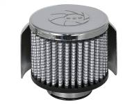 Air Intakes & Accessories - Air Filters - aFe Power - AFE Filters 18-01502 Magnum FLOW PRO DRY S Air Filter 1-1/2 IN F x 3B x 3 IN T x 2-1/2 IN H-Chrome w/Heat Sheild