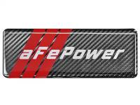 Shop By Part - Gear & Apparel - aFe Power - AFE Filters 40-10207 aFe POWER Motorsports Logo Urocal; Carbon Fiber 1.86 IN x 5.12 IN