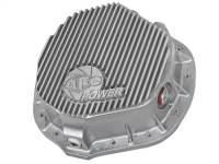 Steering And Suspension - Differential Covers - aFe Power - AFE Filters 46-70010 Street Series Rear Differential Cover Raw w/Machined Fins Dodge Trucks 03-14 L6-5.9/6.7L (td); GM 01-07 V8-8.1L; GM Trucks 01-17 6.6L (td) (AAM 11.50-14 Bolt Axles)