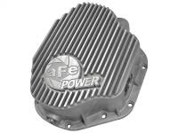 Steering And Suspension - Differential Covers - aFe Power - AFE Filters 46-70030 Street Series Rear Differential Cover Raw w/Machined Fins Dodge Diesel Trucks 94-02 L6-5.9L (td); Ford F-350/450 DRW 99-07 V8-7.3L/6.0L(td) (Dana 80 Axles)