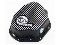 Steering And Suspension - Differential Covers - aFe Power - AFE Filters 46-70032 Pro Series Rear Differential Cover Black w/Machined Fins Dodge Diesel Trucks 94-02 L6-5.9L (td); Ford F-350/450 DRW 99-07 V8-7.3L/6.0L(td) (Dana 80 Axles)