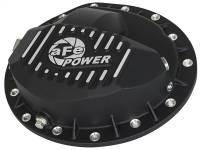 aFe Power - AFE Filters 46-70042 Pro Series Rear Differential Cover Black w/Machined Fins Dodge Diesel Trucks 03-12 L6-5.9/6.7L (td) (AAM 9.25-14 Bolt Axles)