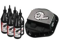 AFE Filters 46-70082-WL Pro Series Rear Differential Cover Kit Black w/Machined Fins/Gear Oil Ford F-250/F-350/Excursion 99-16 V8-7.3L/6.0L/6.4L/6.7L (td)