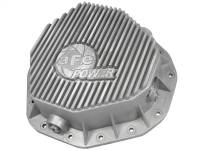 Steering And Suspension - Differential Covers - aFe Power - AFE Filters 46-70090 Street Series Rear Differential Cover Raw w/Machined Fins Dodge Diesel Trucks 03-05 L6-5.9L (td) (AAM 10.5-14 Bolt Axles)