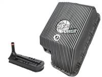 Transmission - Automatic Transmission Parts - aFe Power - AFE Filters 46-70120-1 Transmission Pan; Machined Fins Ford Diesel Trucks 94-10 V8-7.3L/6.0L/6.4L (td)