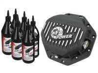 Steering And Suspension - Differential Covers - aFe Power - AFE Filters 46-70272-WL Pro Series Rear Differential Cover Black w/Machined Fins/Gear Oil Dodge/RAM 94-16 (Corporate 9.25-12 Bolt Axles)