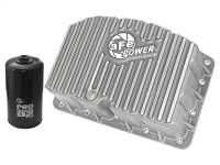 Engine Parts - Oil System - aFe Power - AFE Filters 46-70320 Street Series Engine Oil Pan Raw w/Machined Fins Ford Diesel Trucks 11-17 V8-6.7L (td)
