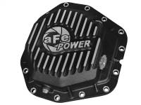 Steering And Suspension - Differential Covers - aFe Power - AFE Filters 46-70382 Pro Series Rear Differential Cover Black w/Machined Fins Ford Diesel Trucks 2017 V8-6.7L (td) Dually models