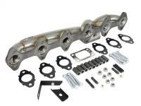 aFe Power - AFE Filters 48-32017 Twisted Steel 304 Stainless Steel Header w/T3 Turbo Flange Dodge Diesel Trucks 03-07 L6-5.9L (td) - Image 3